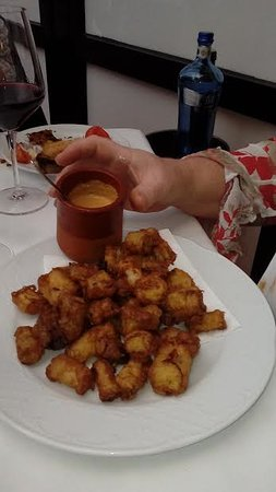 Sant Pere Molanta, Spain: deep fried cal cots