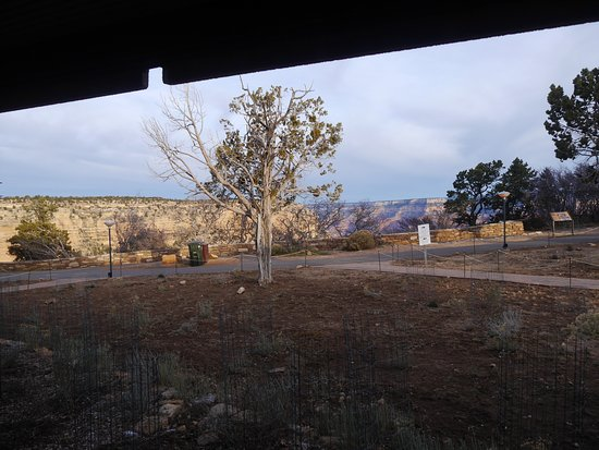 Thunderbird Lodge: Blick zum Canyon