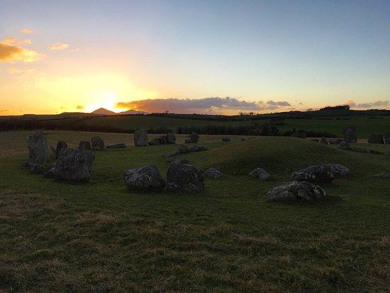 Ballynoe Stone Circle : Ballynoe at sunset