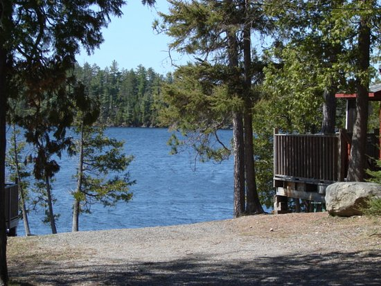 Temagami, Canada: view of Angus Lake between cabin 2 and 3
