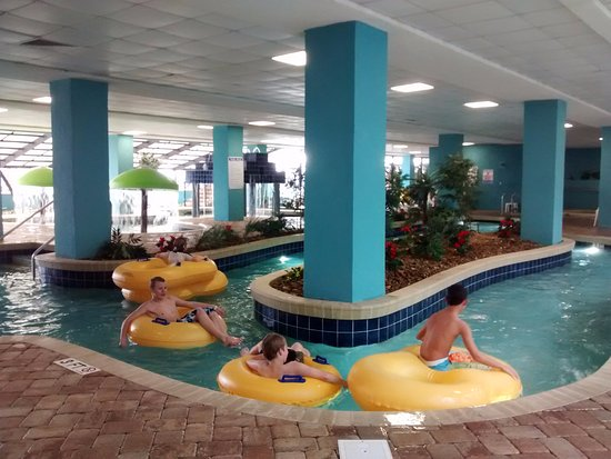 Indoor Lazy River Pool Hot Tub Area Picture Of Landmark Resort Myrtle Beach Tripadvisor