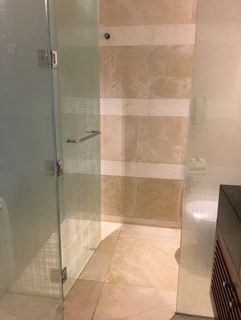 Manila Marriott Hotel: Separate Tube And Shower In Enclosed Area