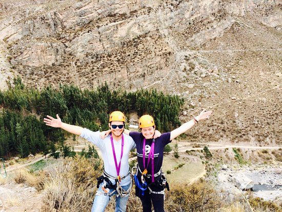 Colca Zip-Lining: My friend and I at the highest-point