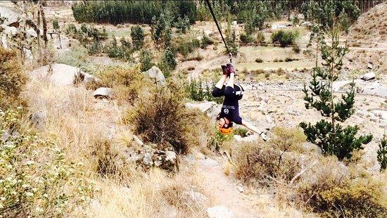Colca Zip-Lining: My going crazy ;)