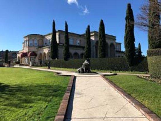 ฮีลด์สบูร์ก, แคลิฟอร์เนีย: Approaching Farrari Carano winery along their beautifully landscaped walk way.