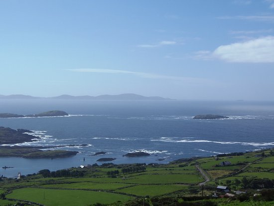 View from Scarriff Inn along Ring of Kerry Road, Caherdaniel, County Kerry