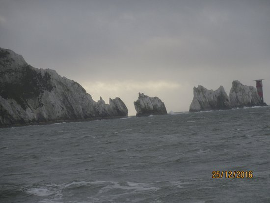 Totland, UK: The Needles from Alum Bay