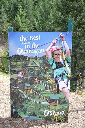 Oyama, Kanada: Signage