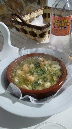 Artenara, Spania: Shrimp in sizzling garlic butter