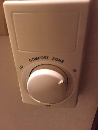 Scandinavian Lodge: No way to to know actual temperature in room