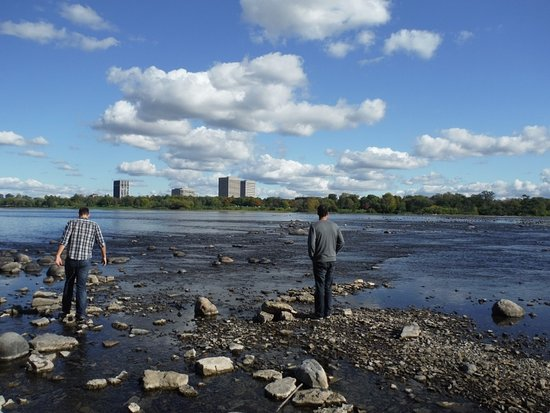Bate Island: BOYS LOOKING AT THEIR OTTAWA LANDSCAPE