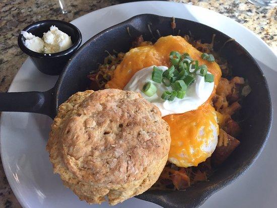 Sage Biscuit Cafe Downtown: Hunters Skillet with Biscuit - Sage Biscuit Downtown, Bradenton FL