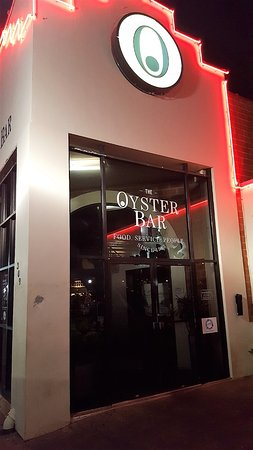 Water Street Oyster Bar and Sushi Bar: The main entrance looks overly formal ... but, the inside is relaxed. A must see in CC, Texas.
