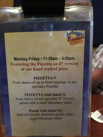Micanopy, FL: Lunch special explained