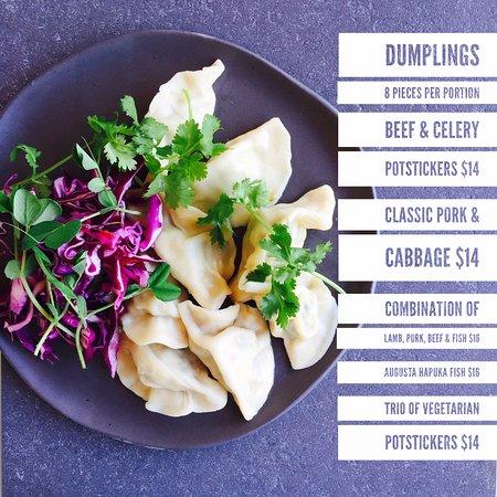 Margaret River Region, Australia: Dumpling Menu