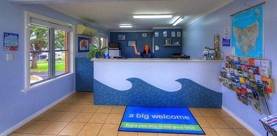 Reception at BIG4 Ulverstone Holiday Park