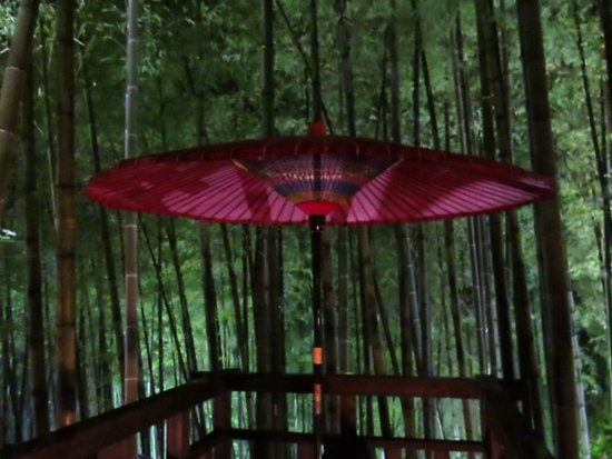 Minamioguni-machi, Japan: Red umbrella (Aug 2016)