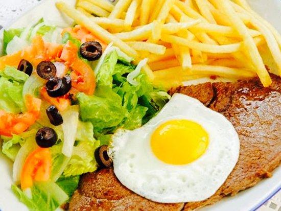 Algueirao - Mem Martins, Portugal: Bitoque Beef stake
