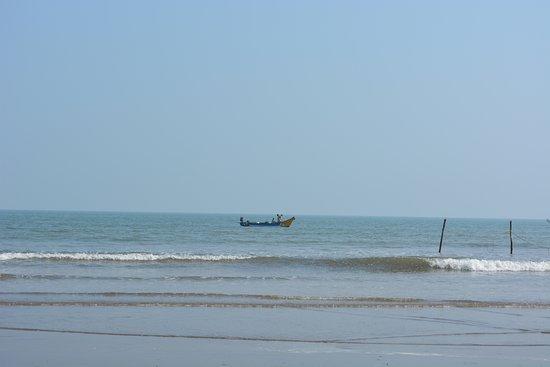 Machilipatnam, Inde : Fishing boats