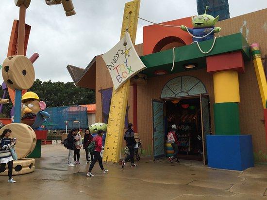 Souvenir shop in Toy Story land