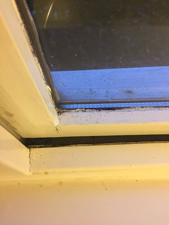 Lochearnhead, UK: Mould and dirt surrounding windows