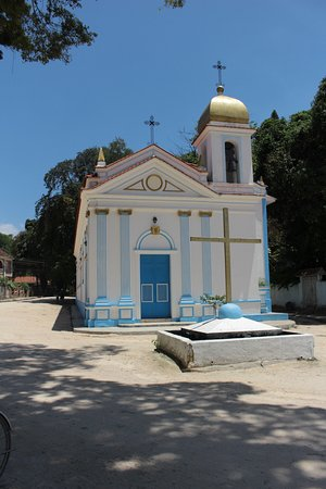 Rio de Janeiro, RJ: Vista frontal da pequena igreja