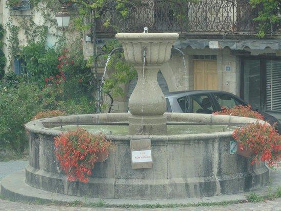 Najac, Francia: fontaine sur la place