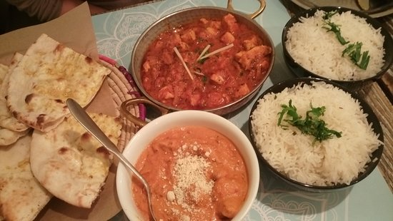 Chicken Karahi (spicy) and Lamb Butter Masala - Picture of