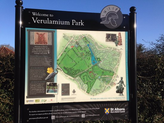 Map of the park Picture of Verulamium Park St Albans TripAdvisor