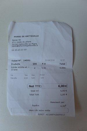 Gatteville-le-Phare, Франция: ticket d'entre 3€ par personne