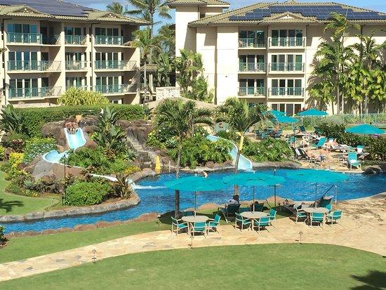 Waipouli Beach Resort: Our condo view #405