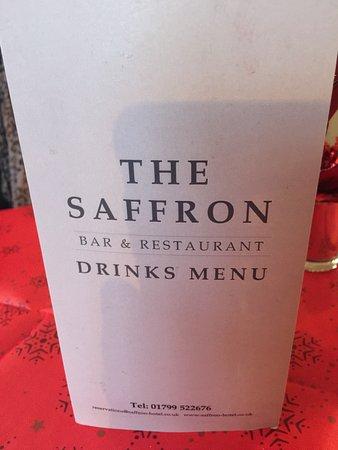 The Saffron Hotel: Good drinks menu