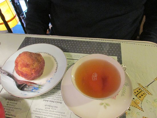 Morris, IL: French toast muffin and butterscotch hot tea!
