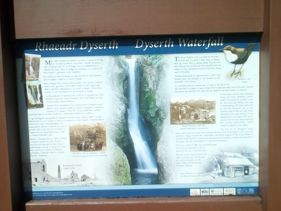Dyserth, UK: info tafel