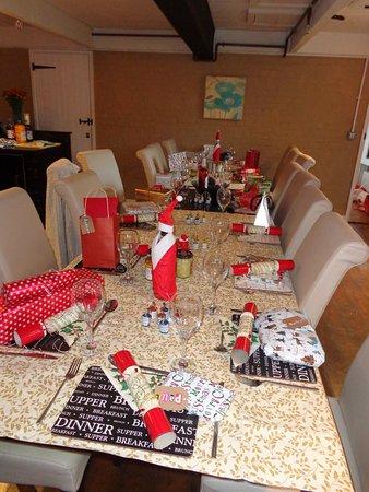 Swilland, UK: plenty of dining space for large groups