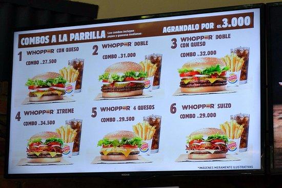 Burger King: Меню и цены