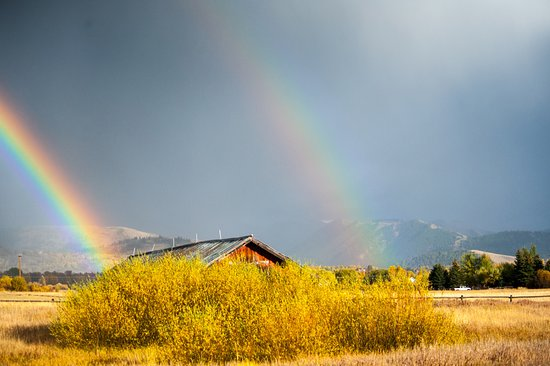 Wilson, WY: Double Rainbow (Teton Raptor Center)