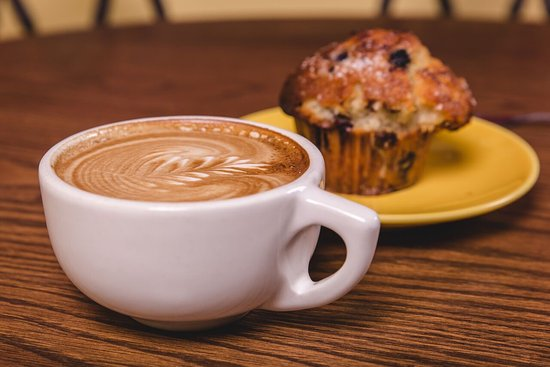 Coffee Co: delicious latte and muffin