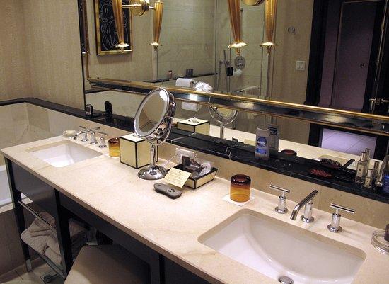 Bathroom Sinks Las Vegas room e-859 bathroom w/ dual sinks - picture of encore at wynn las