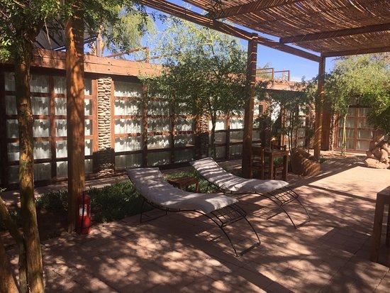 Lodge Andino Terrantai: Área de descanso, muito agradável