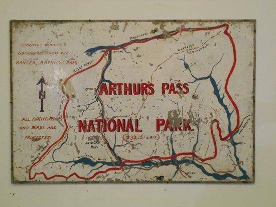 Arthur's Pass National Park, New Zealand: Map of the National Park