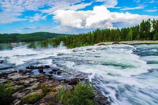 Norrbotten County, Sweden: storforsen panoramica
