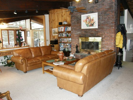 Berkshire Mountain House: One of our living room's with fireplace to relax in.