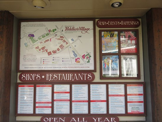 The Map and Information board Picture of Peddler s Village