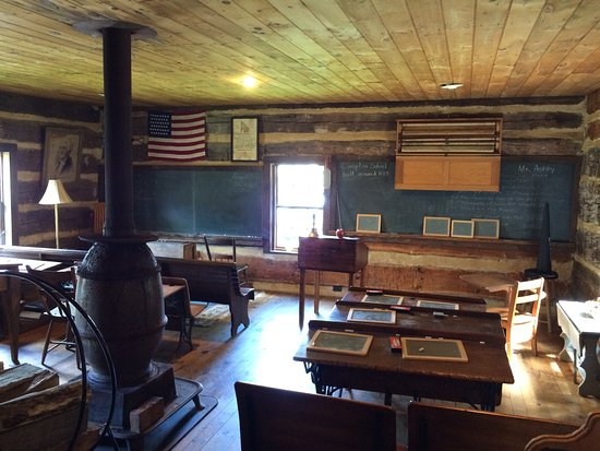 Grantsville, MD: historic school house at spruce forest village