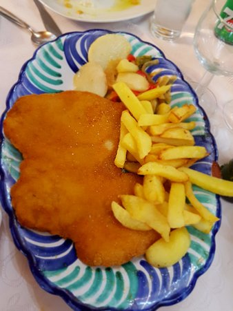 Cadiar, Spain: Pollo empanado