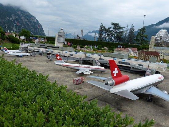 Swissminiatur: Zurich airport miniature.