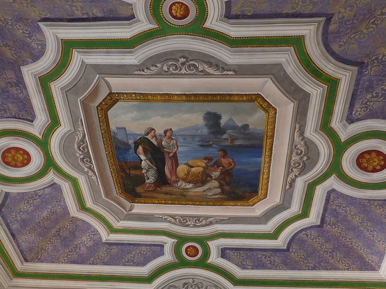 La Scogliera: Wow, what a dining room ceiling.