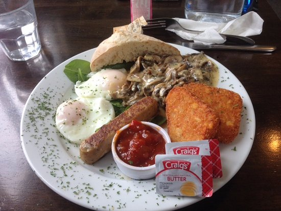 Domain Cottage Cafe: Vegetarian Breakfast