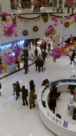 The new century Shopping Mall: Taken from the second floor...